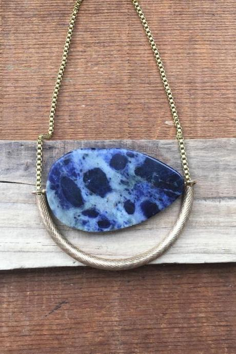 SODALITE & TUBE NECKLACE
