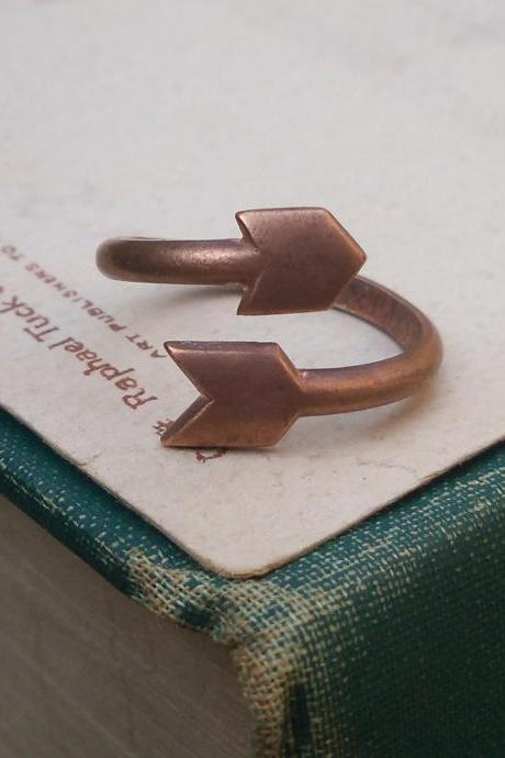 COPPER ARROW RING